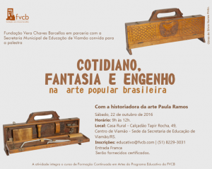 Convite Encontro com Paula Ramos